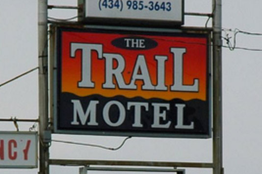 Trail Motel sign