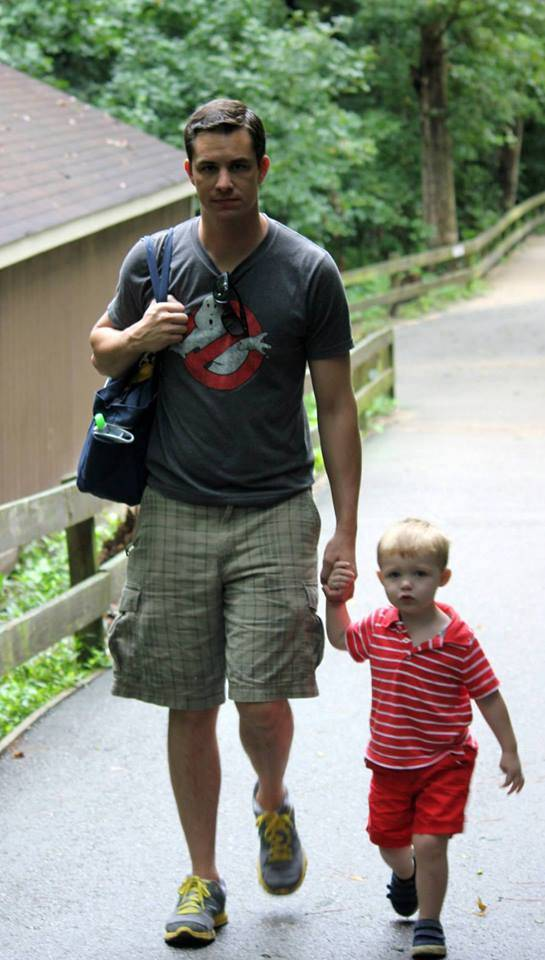 image of me and son at zoo